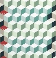détail d'un calendrier mural à base de cubes, trouvé chez la Petite Papeterie Française