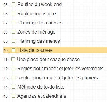 Comment s organiser pour faire le mnage beautiful rganisation mise en place duun planning - Planning menage quotidien ...